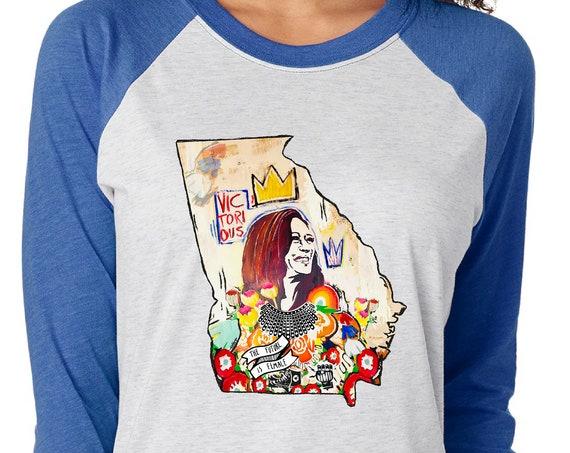 Kamala Harris Madam Vice President GEORGIA 2020  - Original Artwork  - Unisex Baseball Tshirts
