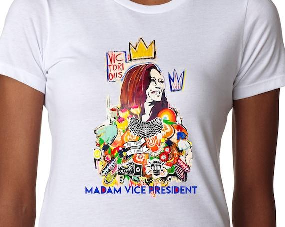 Kamala Harris Madam Vice President 2020 Shirt -  Women's Fitted Tshirt