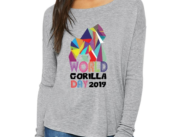 World Gorilla Day - Flowy Long-Sleeve T-Shirt