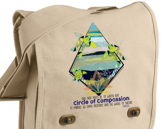Fundraiser - Yupukari Turtle Conservation Festival - Circle of Compassion - Messenger Bag