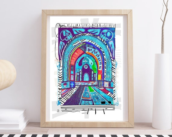 Day of the Dead Church  (Giclee)