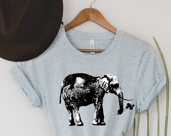 Elephant with Flowers - Unisex T-shirts - 3001