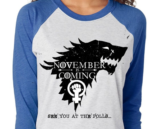 November is Coming - See You at the Polls - Unisex Baseball Tshirts