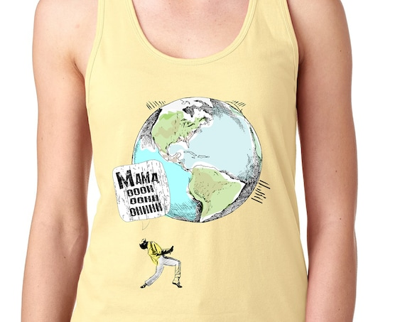 Freddie Mercury - Earth Day - Women's Racerback Tank