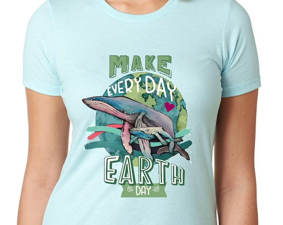 Humpback Whale -  Earth Day:  Tshirt, Women or Mens
