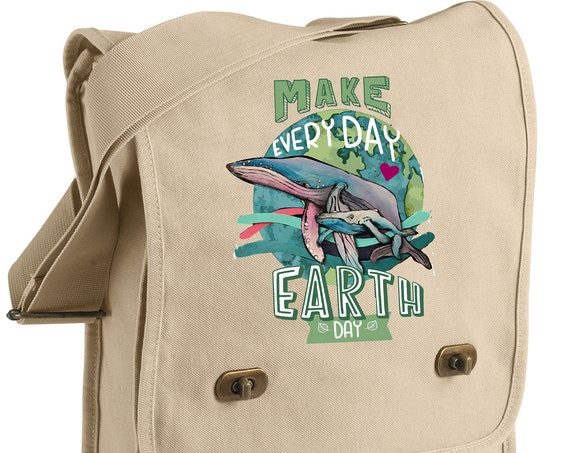 Humpback Whale - Earth Day EveryDay - Original Artwork - Messenger Bag