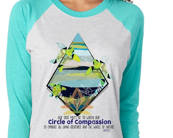 Fundraiser - Yupukari Turtle Conservation Festival - Circle of Compassion - Unisex Baseball Tshirts