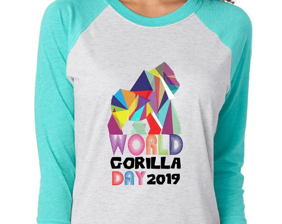 World Gorilla Day - Unisex Baseball Tshirts