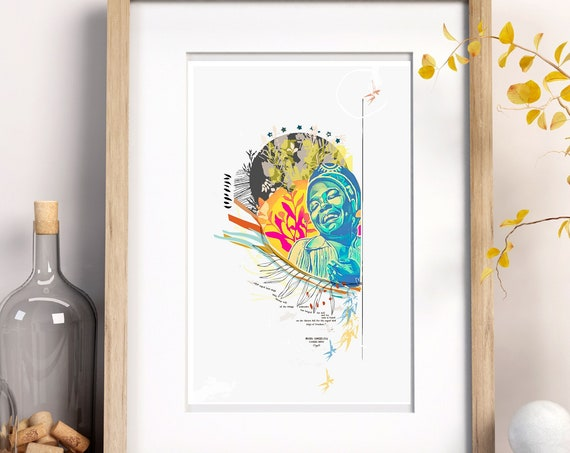Maya Angelou - I Know Why the Caged Bird Sings -  (Giclee)