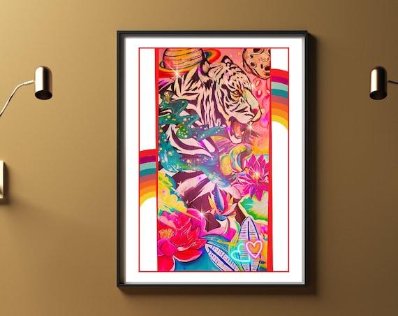 Space Tiger - Original Artwork - Prints