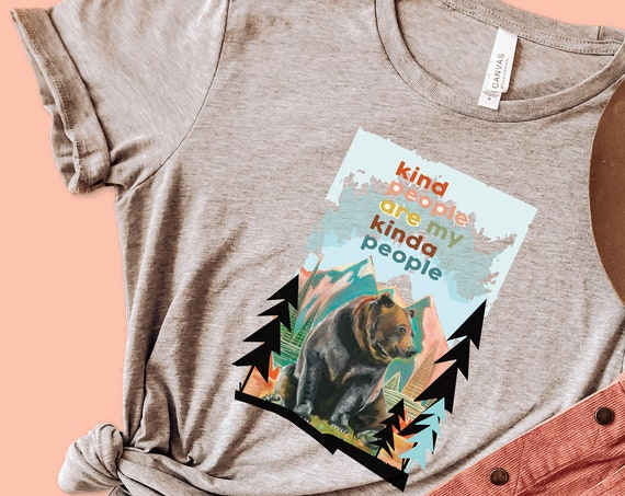 Kind People are My Kind of People - Grizzly Bear  - Unisex T-shirts - 3001