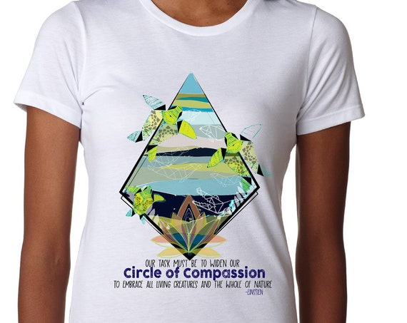 Fundraiser - Yupukari Turtle Conservation Festival - Circle of Compassion - Fitted Women's T and Men's T