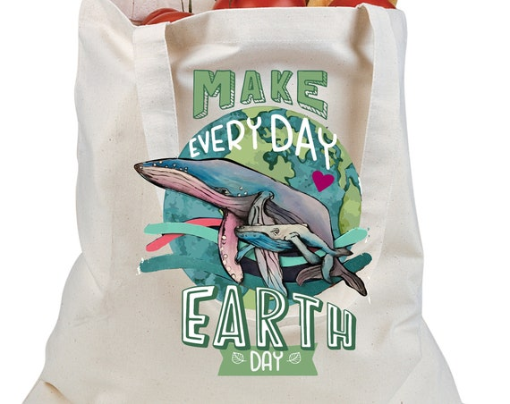 Humpack Whale - Earth Day Tote