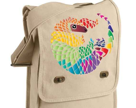 Pangolin Pride - Geometric Pangolin - Messenger Bag - Original Artwork