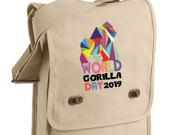 World Gorilla Day - Geometric Gorilla - Messenger Bag