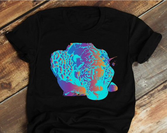 Neon Jag - Jaguar Big Cat - Unisex T-shirts - 3001