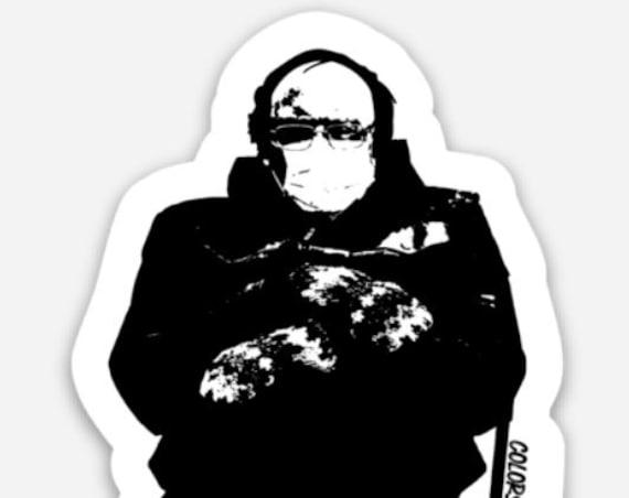 Bernie and His Mittens Meme - Antifa  -  Durable, Vinyl Stickers