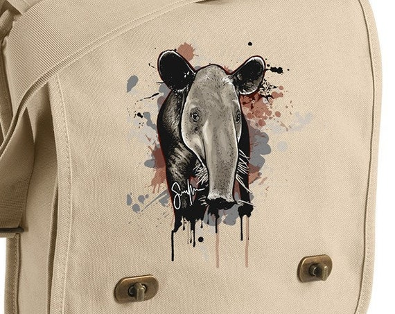 Tapir 'Tude Messenger Bag. Original artwork