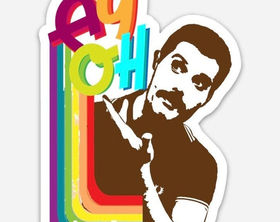 "STICKERS! - AY OH! Freddie Mercury - Give Love - Queen Tribute - Vinyl Stickers -3""x 4"""