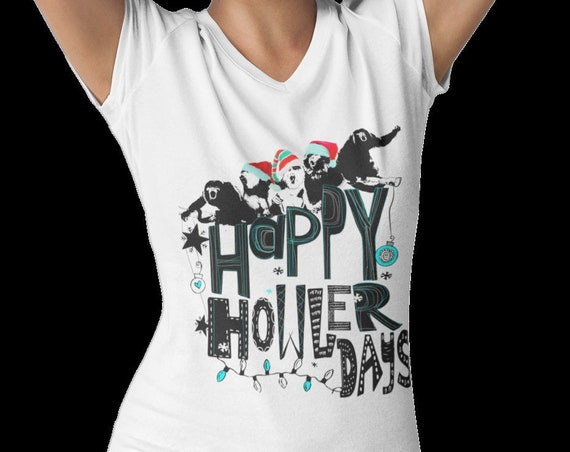 Happy HOWLERdays - Howler Monkey Holiday - Tshirt, Women or Mens