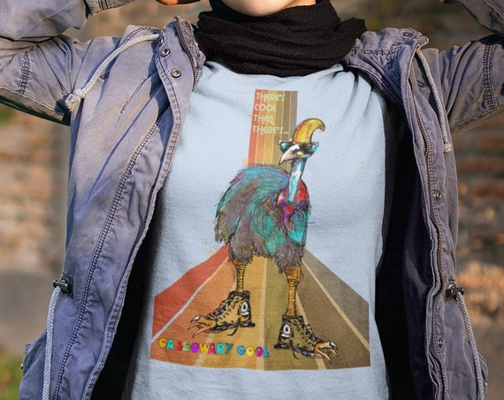 Cassowary Cool - Unisex Fitted/UN-Fitted T-Shirt