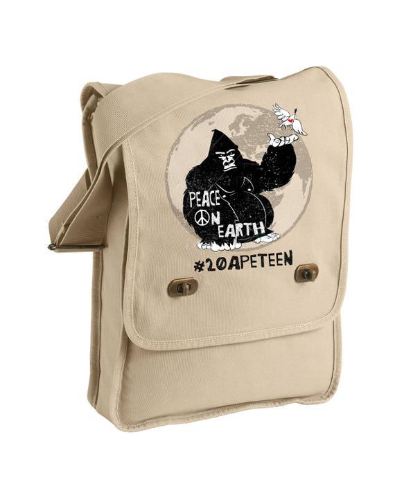 20APETEEN Peace on Earth - Gorilla -  Messenger Bags! - Original Artwork