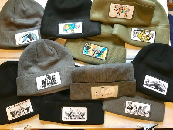 Conservation Patch  Beanie Hats - Tons of Designs to Choose From!