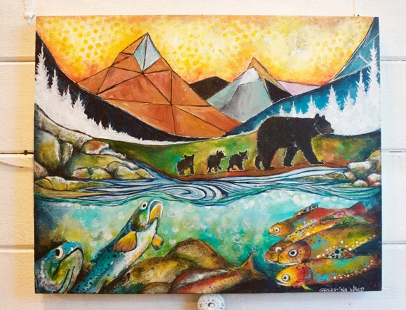 The Journey Home, black bears along the trout stream