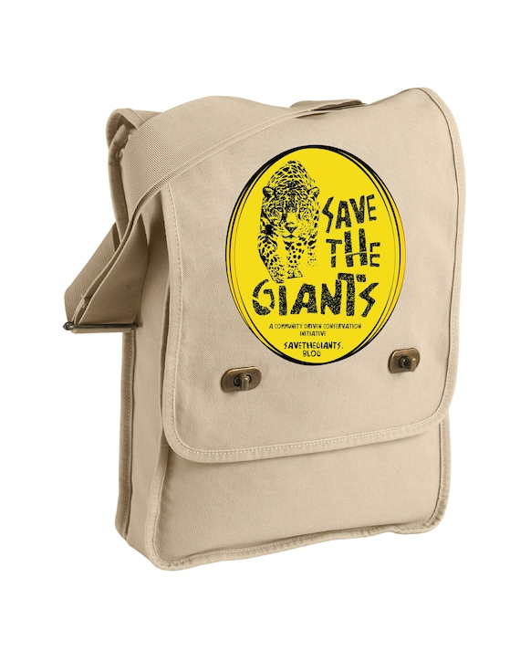 Save the Giants -Messenger Bag - Jaguar, Giant Otter, Giant Anteater, Tapir