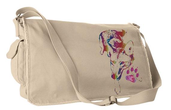 Love Your Urban Wildlife - Original Coyote Artwork - Satchel Bag