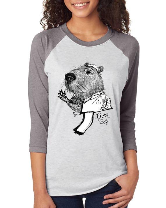 Holy Cap - Capybara - Unisex Baseball Tshirts