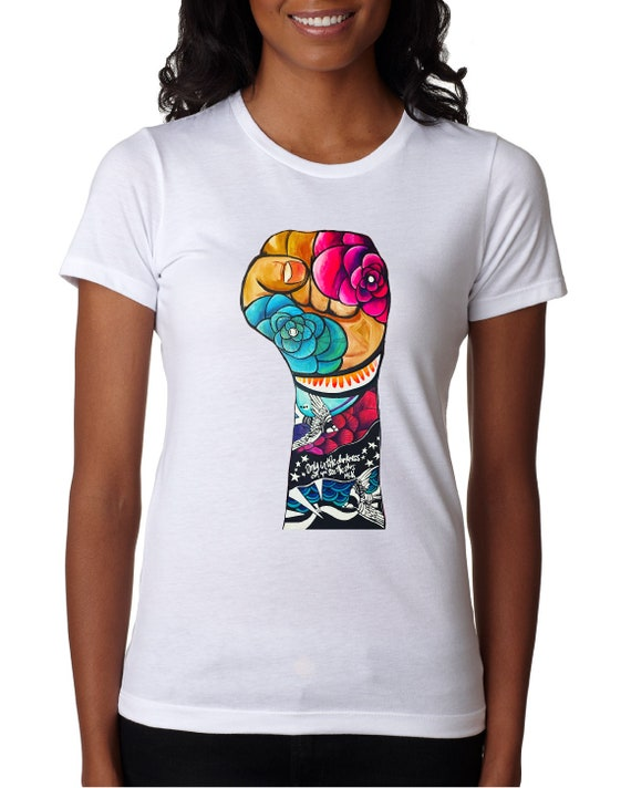 Resist Fist 2020 - Women's  Fitted Tshirt