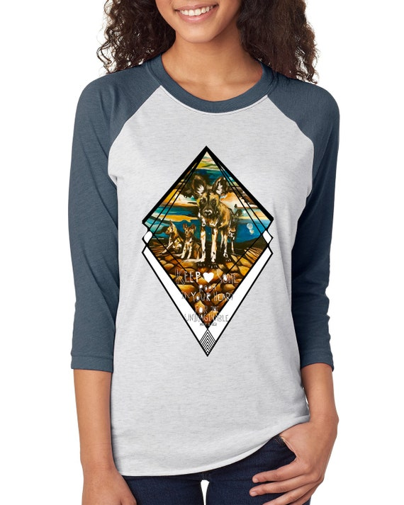 Painted Dog - Leave Room in Your Heart for the Unimaginable  - Unisex Baseball Tshirts