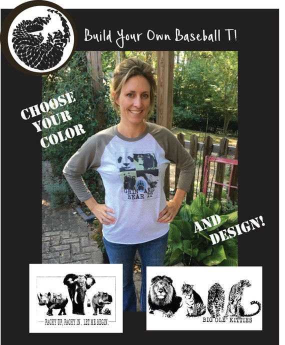 Build Your Own Baseball T-shirt!  You pick the color and design, to make your perfect shirt!