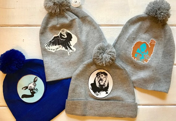 Conservation PoofBall Beanie Hats - Tons of Designs to Choose From!
