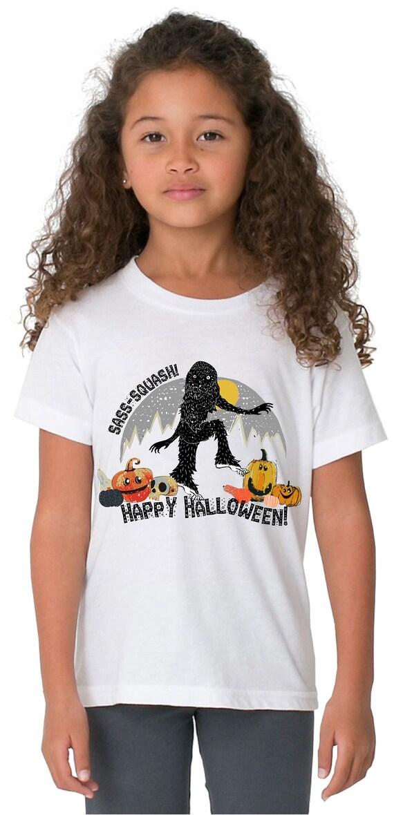 Sasquatch Happy Halloween -  Kid's Tshirt
