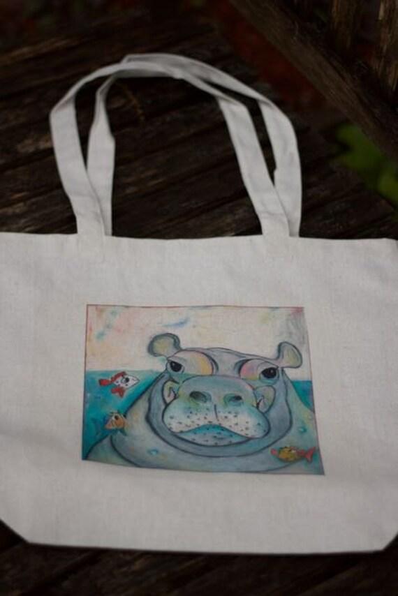 Happy Hippo Tote