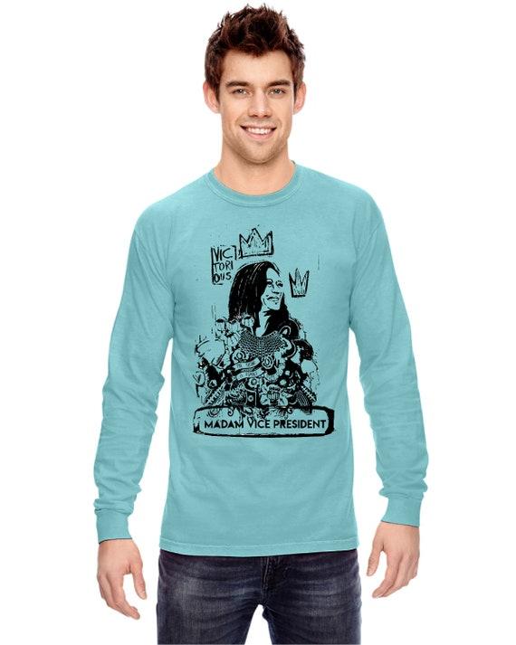 Kamala Harris Madam Vice President Monotone - Original Artwork  - Unisex Longsleeve Tshirts