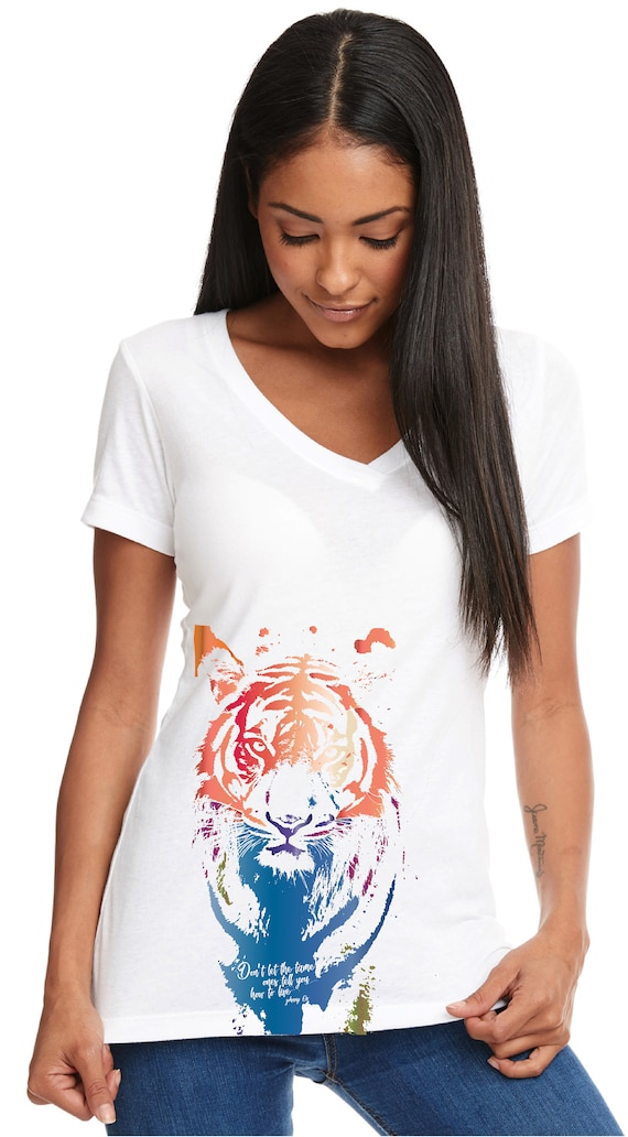 Don't Let Them Tame You - Original Artwork Benefiting the Tiger Conservation Campaign - Original Artwork - Tshirt, Women's
