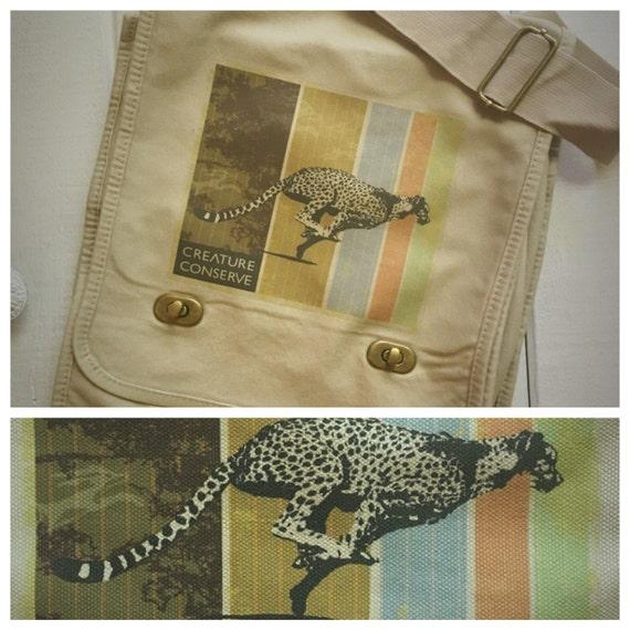 Creature Conserve Cheetah Messenger Bag