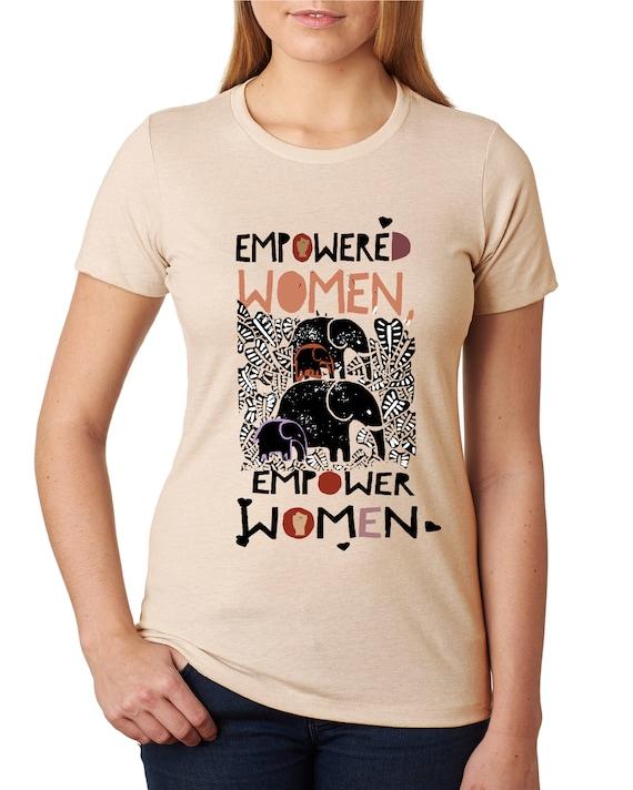 Empowered Women Empower Women - Femme and Fierce Elephant- Original Artwork - Women's Fitted Tshirt