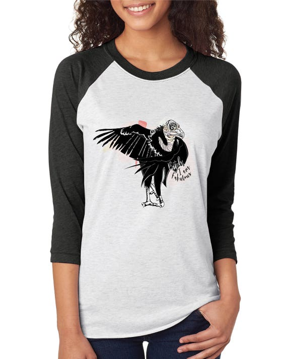 Support Vulture Conservation - Original Artwork  - Unisex Baseball Tshirts