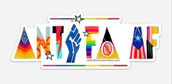 Antifa AF Stickers