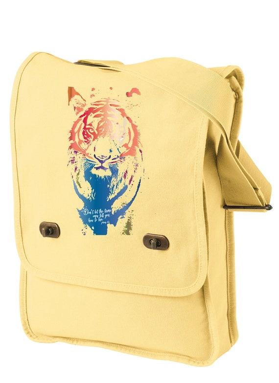 Don't Let Them Tame You - Original Artwork Benefiting the Tiger Conservation Campaign- Messenger Bag