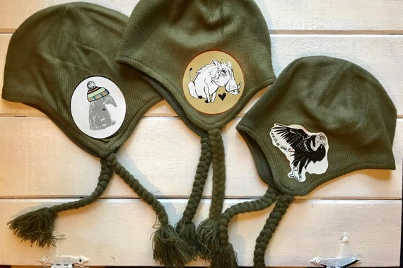 Conservation Earflap Beanie Hats - Tons of Designs to Choose From!
