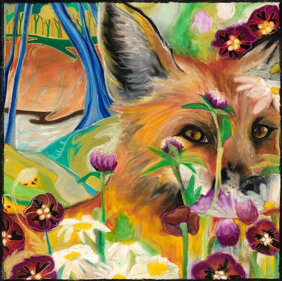 The Shy Fox Prints! (Giclee)