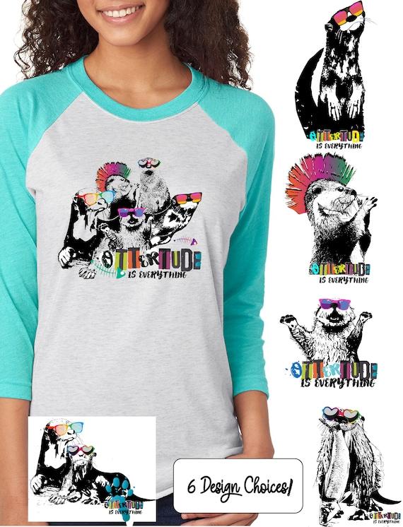 World Otter Day - Original Artwork Benefiting Save the Giants - Unisex Baseball Tshirts