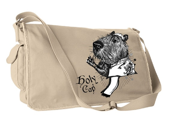 Holy Cap!  Capybara Satchel Bag