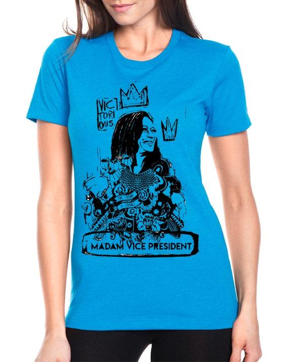 Kamala Harris Madam Vice President  2020 Monotone Shirt -  Women's Fitted Tshirt