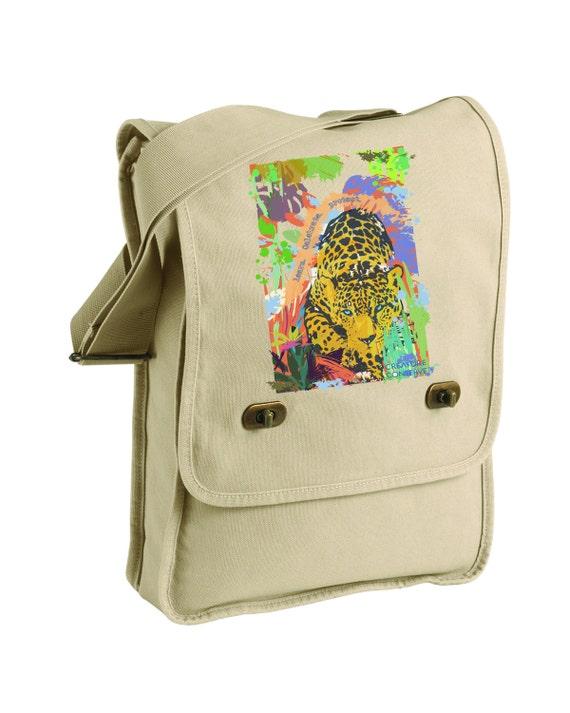 Creature Conserve, Jaguar Messenger Bag - learn. celebrate. protect.